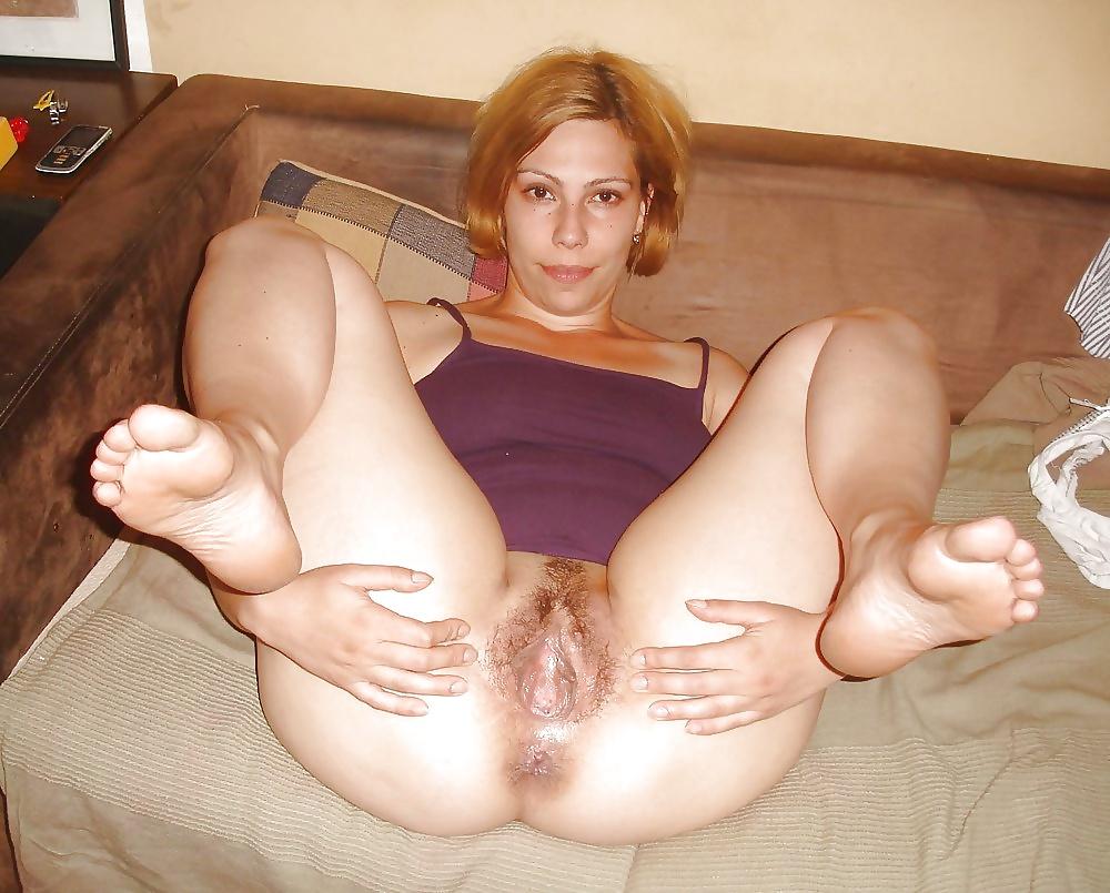 Blonde pussy ass feet